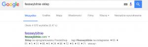 Kolejny przykład ubogich title tagów i meta opisu. Wyglad twojego Presta Shopu w wynikach Google jest bardzo wazny.